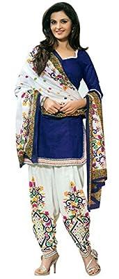 Jashvi Creation Women's Cotton Unstiched Dress Material (JC_DM_590_Blue)