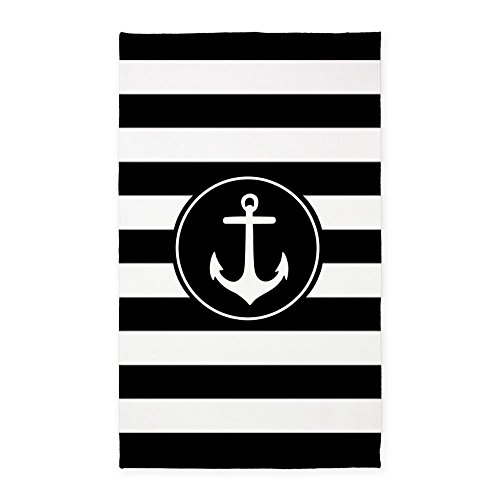 CafePress-Black-Nautical-Anchor-Stripes-3X5-Decorative-Area-Rug-Fabric-Throw-Rug