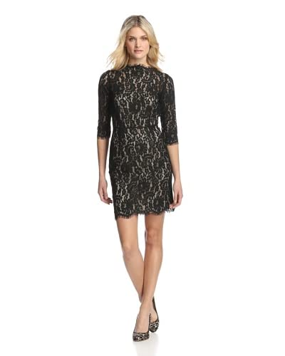 Aijek Women's Accidental Love 3/4 Sleeve Lace Dress