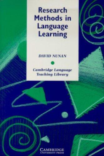 Research Methods in Language Learning (Cambridge Language...