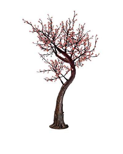 LED Purple Cherry Blossom Tree, Pink Bulbs