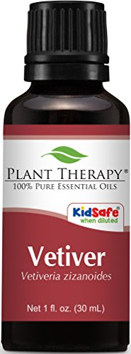 Vetiver (Vetiveria Zizanoides)Essential Oil. 30 ml (1 oz). 100% Pure, Undiluted, Therapeutic Grade.