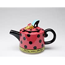 Appletree Design Shoes On Her Mind Teapot 4-1/8-Inch