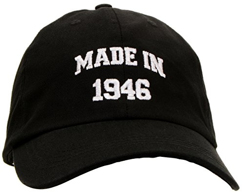 70th Birthday Gift Made 1946 Original Parts Hat Cap Black