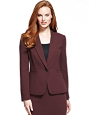 M&S Collection Double Crêpe Peak Lapel Jacket
