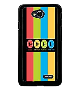 PrintDhaba Logos D-4034 Back Case Cover for LG L70 (Multi-Coloured)