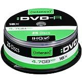 Intenso 4101154 - Tarrina de 25 unidades DVD-R (4.7 GB/120 min, 16x)