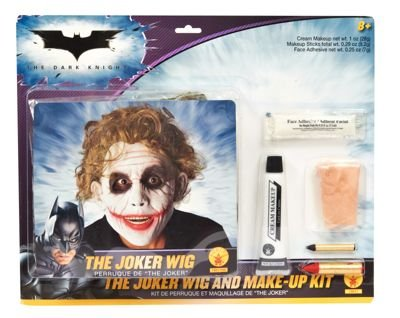 Deluxe Joker Wig & Make-Up Kit Costume Accessory