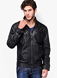 MENS LEATHER JACKET BY HEIFARD (Large)