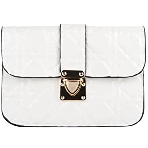 SumacLife White Quilted Women's Clutch Wallet Pouch