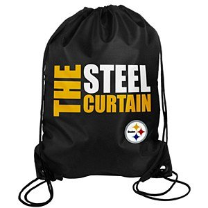 NFL Pittsburgh Steelers Slogan Drawstring Backpack at Steeler Mania