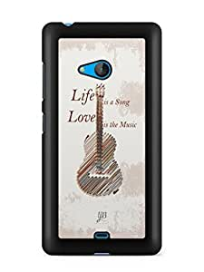 YuBingo Life is a Song Designer Mobile Case Back Cover for Microsoft Lumia 540