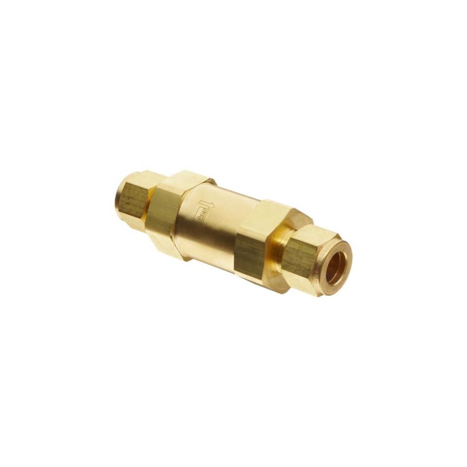 Parker F Series Brass Instrumentation Filter, Inline, 50 Micron, 1/2 CPI Compression Fitting