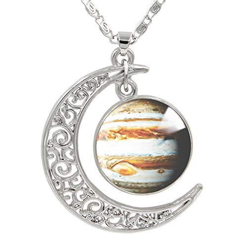 "FANSING Womens Marvelous Necklace, Jupiter Pendant Necklaces, Universe Planet Jewelry, 18"" + 2"" Chain"