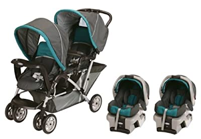 Graco DuoGlider Folding Double Baby Stroller w/ 2 Car Seats Travel Set|Dragonfly by Graco that we recomend individually.