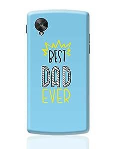 Posterguy Case Best Dad Ever Case Cover For Google Nexus 5 (Blue)