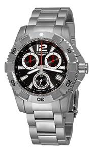 Longines Men's L36504566 HydroConquest Quartz Chronograph Black Chronograph Dial Watch