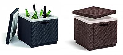 Allibert Ice Box Graphite or Brown Brand New Storage box for drinks ice etc