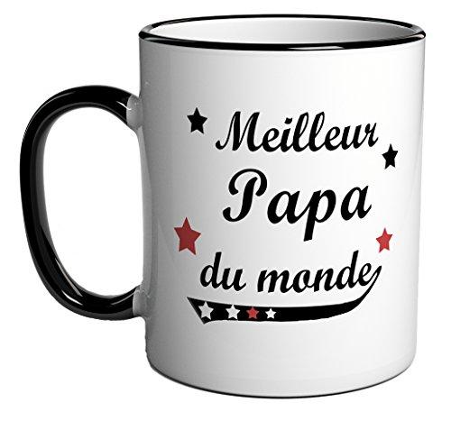 Tasse caf cadeau message meilleur papa du monde - Tasse a cafe maison du monde ...
