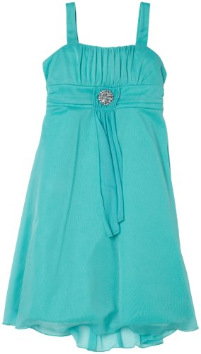 Ruby Rox Girls 7-16 Drape Front Emma W/ Broach