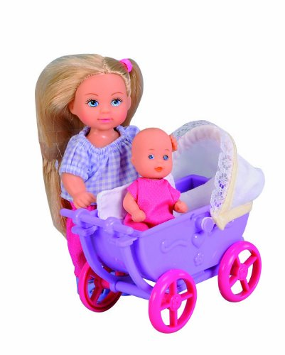 Evi Love Mommy & Baby In Stroller With 12 Accessories front-113406
