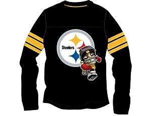 NFL Pittsburgh Steelers Athletic Rush Zone Yolk Top, 10 12-Medium by PEAKSEASON