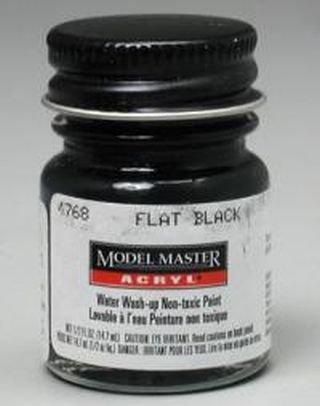 Flat Black Testors Acrylic Plastic Model Paint (Models Paint compare prices)