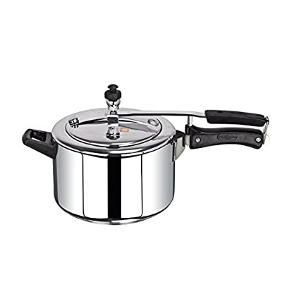 Brightflame 4 Burner Black Gas Stove & Pressure Cooker 3 Ltr Stainless Steel
