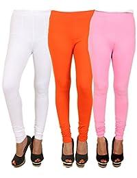PRO Lapes Cotton Lycra Churidar Legging Set Of 3