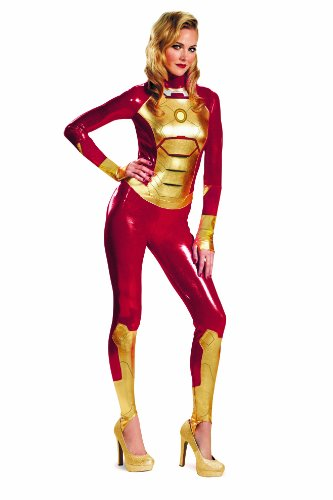 Marvel Iron Man 3 Mark 42 Lycra Sassy Womens Adult Bodysuit Costume