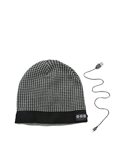1 Voice Men's Bluetooth Patterned Beanie, Black