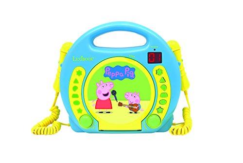 Peppa Pig - Lector CD con 2 micrófonos (Lexibook RCDK100SL)