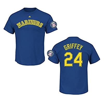 Ken Griffey Jr. Seattle Mariners #24 MLB Men's Hall of Fame Cooperstown Player T-Shirt