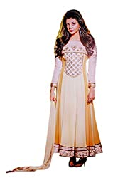 Zerel Women Georgette Salwar Suit Dress Material (Zl-910 _Beige _Free Size)