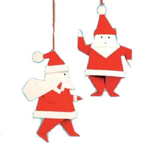 Origami Santa Ornament: Beginner's Origami For Christmas