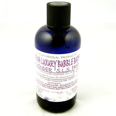 Luxury Bubble Bath Lavender 250ml.SLS Free Bubble Bath With Essential Oil.