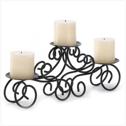Gifts & Decor Tuscan Candle Holder Wrought Iron