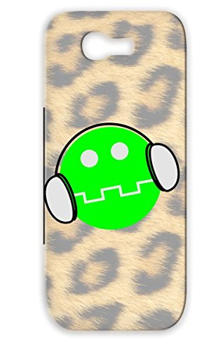 Tpu Green Music Symbols Shapes Smiling Childrens Wear Kids Clothing Face Smile Smiling Headphone Dj Man Cool Listening To Feeling Funny Cover Case For Sumsang Galaxy Note 2