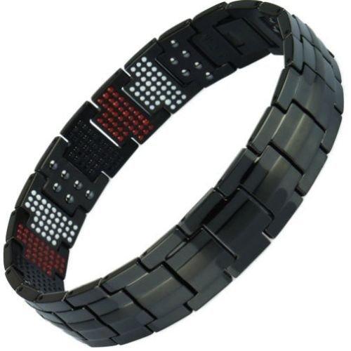 Titanio magnetico energia germanio bracciale Potenza Bracciale Salute Bio 4in1 45