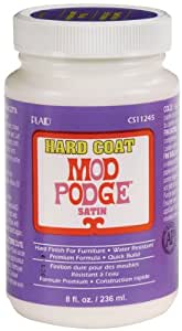 Mod Podge CS11245 8-Ounce Glue, Hard Coat