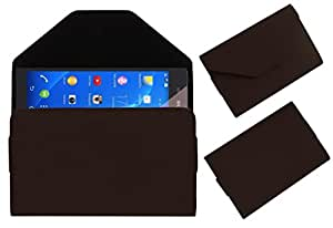 Acm Premium Pouch Case For Spice Stellar 470 Flip Flap Cover Holder Brown