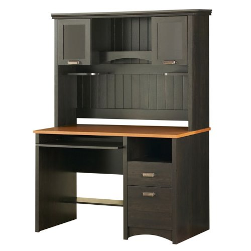 Buy Low Price Comfortable Black and Spice Compact Computer Desk with Hutch (B001J4FK9W)