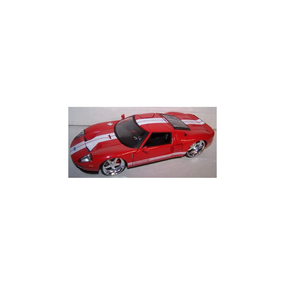 Jada Toys 1/24 Scale Dub City 2005 Ford Gt in Color Red