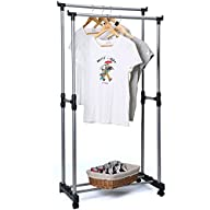 Aojia Hanging Clothes Rack Clothes Drying Rack Hanging Clothes Rack Hanging Rack Heavy Duty Rack…