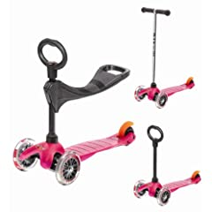Mini Micro 3in1 Pink (Scooter Complete with Accessory) by Micro Kickboard
