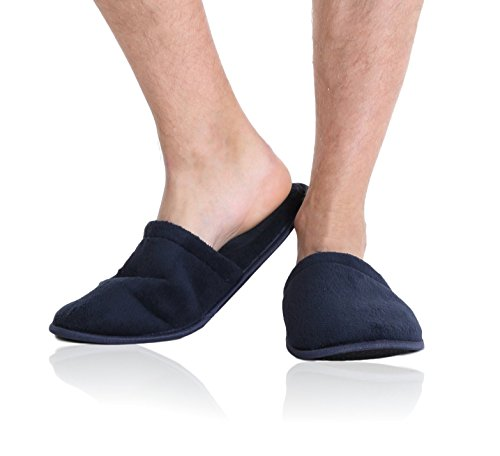pembrook-mens-slippers-with-memory-foam-navy-l-xl-10-13-fuzzy-polar-fleece-with-non-skid-sole-great-