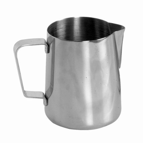 Chefland 64763 Chefland Frothing Pitcher Espresso Coffee Milk Pitcher Stainless Steel, 12-Ounce, Stainless Steel