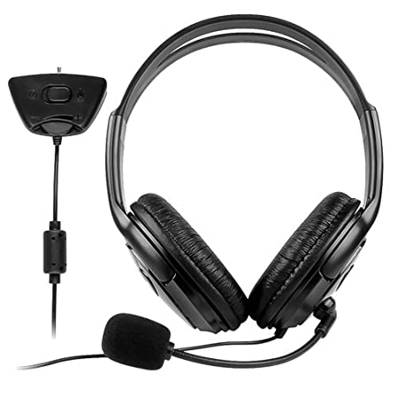CommonByte For Xbox 360 Slim Xbox360 Live Black Headset With Mic Microphone