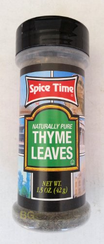 Thyme Leaves Seasoning By Spice Time Spices & Herbs 1.5 Oz... Mtc
