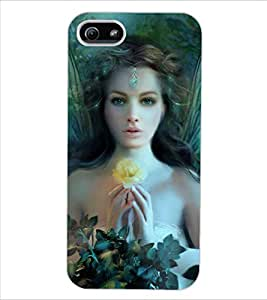 ColourCraft Girl Design Back Case Cover for APPLE IPHONE 5